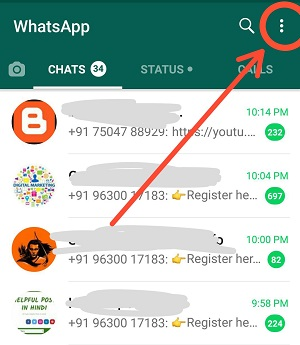 Whatsapp dark mode in Android 9