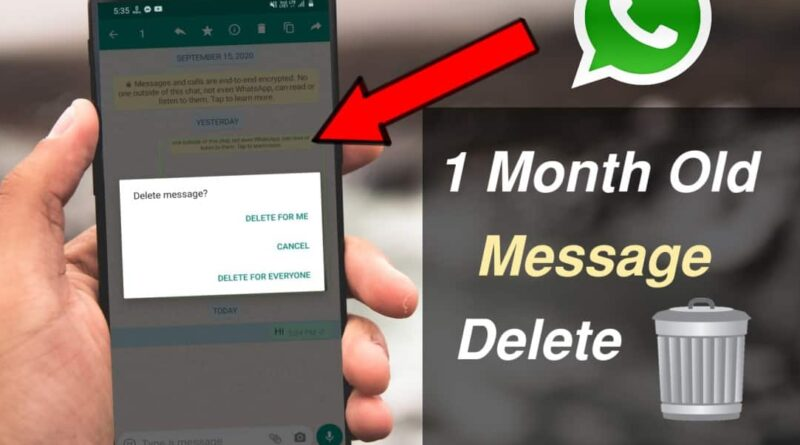 How to delete old WhatsApp messages for everyone even after 6 months